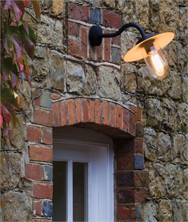Modern Well Light with Curved Bracket