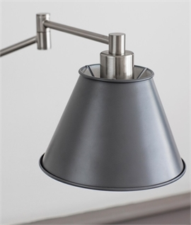 Long Reach Wall Light with Grey Shade