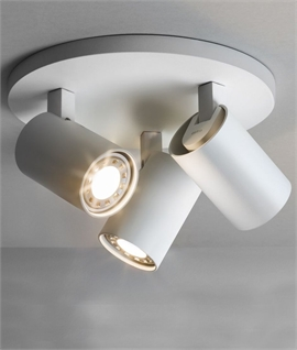 Modern Round 3 Light Ceiling Spot Plate