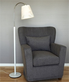 Floor Reading Lamp with Adjustable Textile Shade
