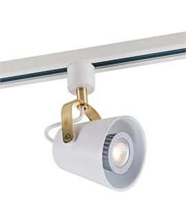 White Adjustable Track Head - Gold Detail  sc 1 st  Lighting Styles & Track Lighting | Lighting Styles