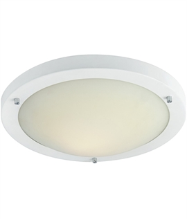 Wall ceiling lights for amienity areas lighting styles simple flush ceiling light with choice of lamp types mozeypictures Gallery