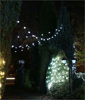 White LED 10 Light Festoon String