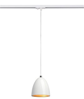 Track designed for suspending pendant lights lighting styles metal cone track pendant mozeypictures Images