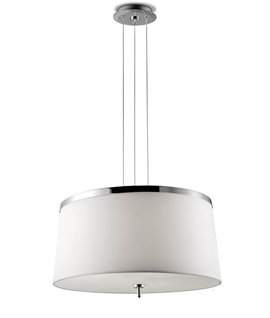 Drum light pendants lighting styles round textile designer pendant with diffuser mozeypictures Choice Image