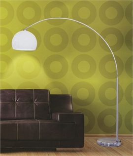 Chrome Rod Long Reach Floor Lamp