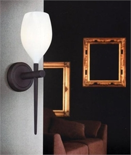 Glass Goblet Wall Light - Slim Metal Stem in 5 Colours