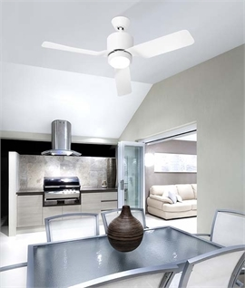 Warm White LED Ceiling Fan Dia 1117mm