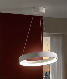 Small Uber Modern Single Circle LED Pendant