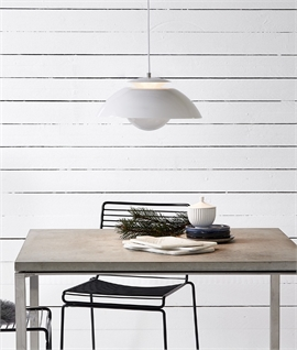 Modern LED Dimmable Pendant with Adjustable Shade