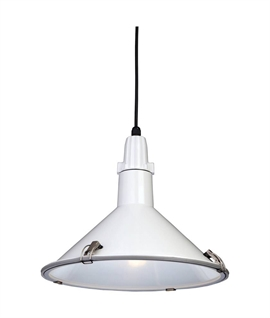 Industrial Style Metal Pendant - IP44 Rated