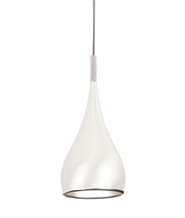 Teardop Metal Light Pendant in White, Black, Gold & Polished Chrome