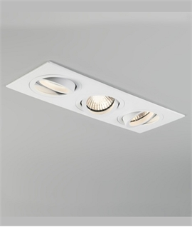 Triple Adjustable Interior Downlight For GU10 Lamps