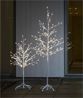 Outdoor White Illuminated LED Tree