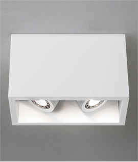 White Twin Surface Mounted Adjustable LED Downlight