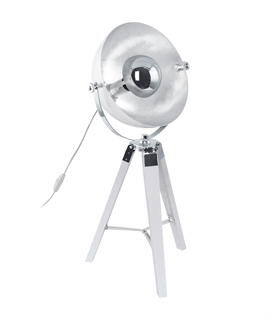 Tripod Table Lamp with Parabolic Reflector