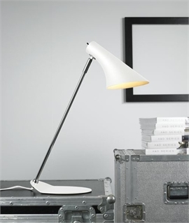 Sleek Adjustable Task Lamp White or Black
