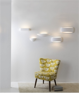 Wide Crescent Plater Wall Light - Two Lamp Options