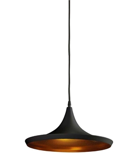 Shallow Single Metal Pendant - LED Lamp