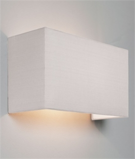 Simple Wide Fabric Wall Light - Up & Down Lighting