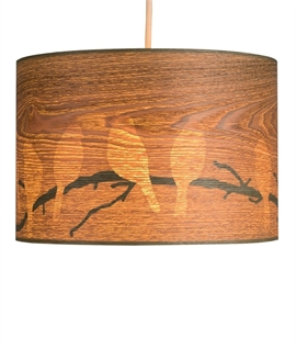 Wood Effect Shade with Bird Silhouettes