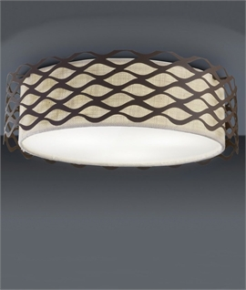 Flush mounted drum pendants lighting styles woven shade flush light woven shade flush light aloadofball