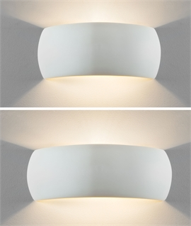 Wrap-Around Ceramic Wall Light for Up & Down Wall Washing