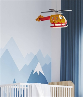 Childrens Colourful Helicopter Pendant