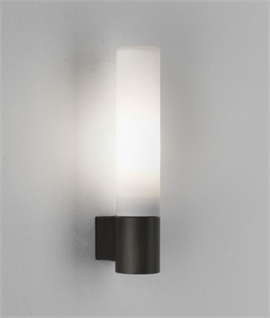 Modern Slim Tubular Glass Wall Light for Bathroom Use