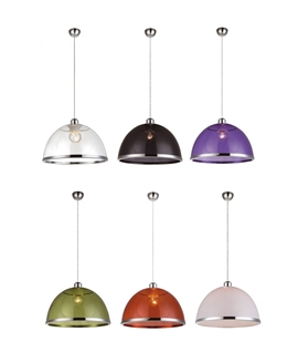 Acrylic Shade Pendant - 6 Finishes