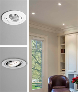 Adjustable Round Mains Downlight for GU10 lamps