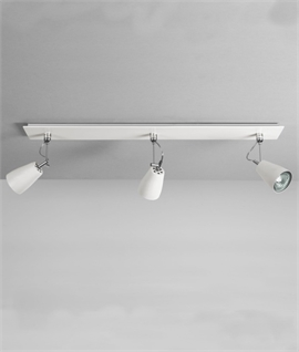 spot lighting for kitchens. White Triple Adjustable Spot Bar Lighting For Kitchens
