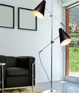 Floor Standing Reading Light for Two People