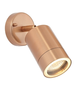 Copper Adjustable Spotlight - Mains Lamps