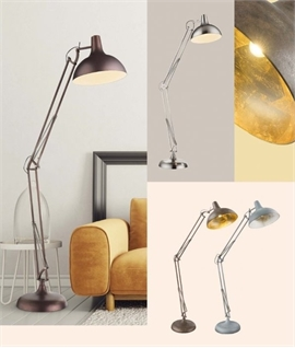 Adjustable Metal Floor Lamp - 4 Finishes