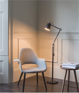 Metal Contemporary Adjustable Floor Lamp