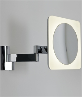 Square LED Illuminated Vanity Mirror - Class 2