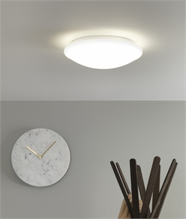 Flush Round IP44 Opal Diffuser Ceiling Light