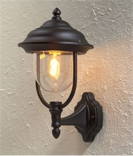 Upright Capped Exterior Wall Lantern