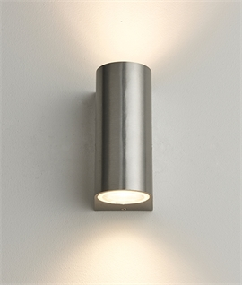 Brushed Aluminium Up & Down Wall Light GU10