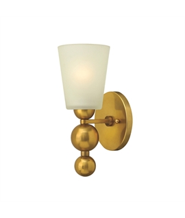 Single Arm Chunky Wall Light with Glass