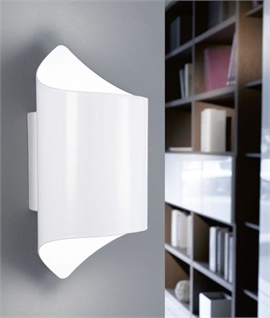 Crisp White Up and Down Wall Light