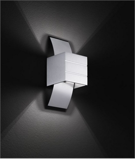 Arched Metal Wall Light with Cube