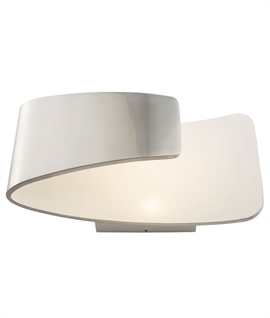 Modern LED Wall Light with Curved Diffuser