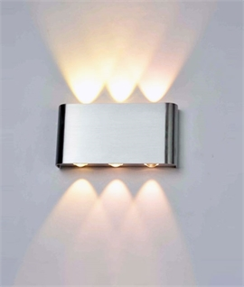 Modern Up & Down LED Wall Light - Two Finishes