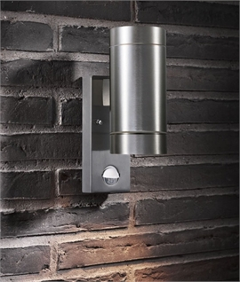 Exterior pir sensor wall light lighting styles exterior up down wall light with pir aloadofball Gallery