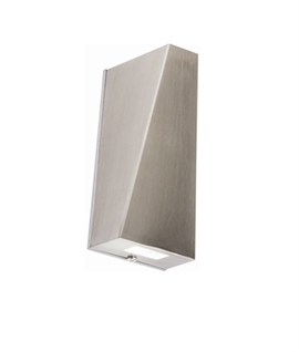 Contemporary Angled LED Exterior Wall Light
