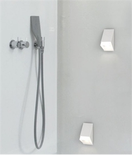 White Angular Wall Light IP44