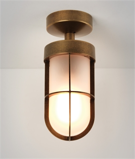 Cabin Frosted Glass Ceiling Light - IP44 Rated