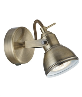 Adjustable Antique Brass Traditional Single Spotlight